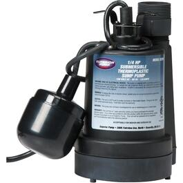 1/4 Horse Power Submersible Sump Pump, with Float Switch thumb