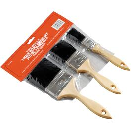 3 Piece Pure Synthetic Bristle Paint Brushes thumb