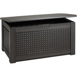 12 Cu. Ft Resin Wicker Storage Deck Box thumb
