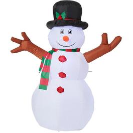 4' Outdoor Inflatable Airblown Snowman, with 3 LED Lights thumb