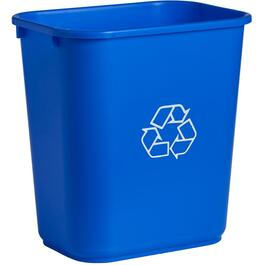 28 Quart Blue Recycle Wastebasket thumb