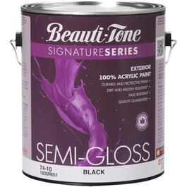 3.7L Black Semi-Gloss Exterior Latex Paint thumb