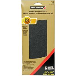 "6 Pack 4.5"" x 10.5"" 100 Grit Silicon Drywall Sandpaper thumb"