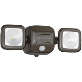 Battery Operated Black 2 LED Light Motion Detector Security Light thumb