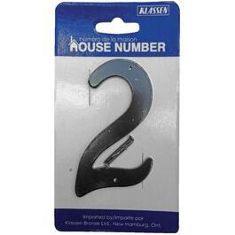 "3.5"" Aluminum Nail-On '2' House Number thumb"