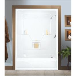 "60"" 1 Piece White Acrylic Left Hand Tub and Shower thumb"