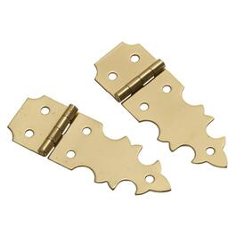 "2 Pack 5/8"" x 1-7/8"" Brass Decorative Hinges thumb"
