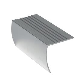 "1-1/8"" x 3' Polished Silver Stair Nose Moulding thumb"