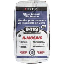 25lb White R-Mosaic Thinset Glass Tile Mortar thumb