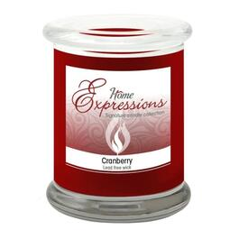 12oz Cranberry Scented Jar Candle thumb