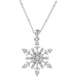 Christmas Rhinestone Snowflake Necklace, Assorted Designs thumb