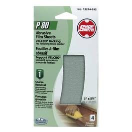4 Pack 80 Grit ShopSmith Hook and Loop Block Sander Refills thumb