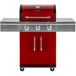 3 Burner 541 sq. in. 36,000BTU Red Propane Barbecue, with Cabinet thumb