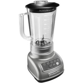 550 Watt 5 Speed Silver Blender, with Plastic Jar thumb