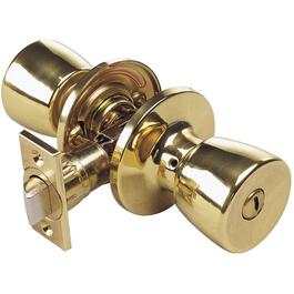 Polished Brass Guardian Privacy Door Knobset thumb