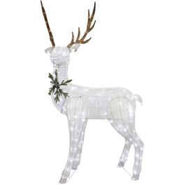 "82"" White Deer Lit Frame thumb"