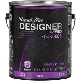 3.64L Trim & Door White Base Silk Finish Latex Paint thumb