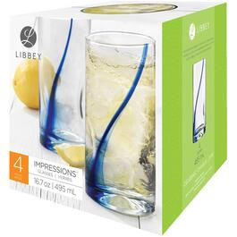 4 Piece 16.7oz Blue Ribbon Cooler Tumbler Set thumb