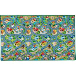 "78"" x 46"" Happyville Road Play Mat thumb"