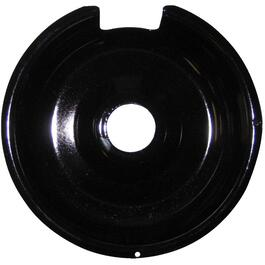 "8"" Black Porcelain Drip Pan thumb"