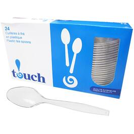 24 Pack Clear Plastic Spoons thumb