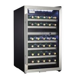 Black Case with Stainless Steel Trim Wine Cooler, Holds 38 Bottles thumb