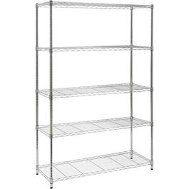 "18"" x 48"" x 72"" 5 Shelf Chrome Wire Shelving Unit thumb"