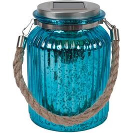 Tabletop Mercury Mason Jar Solar Lantern, Assorted Colours thumb