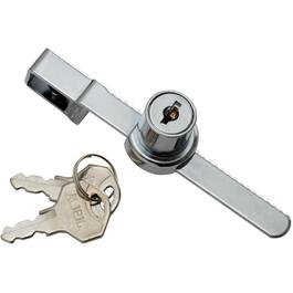"4-1/2"" Chrome Keyed Showcase Lock thumb"