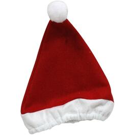 Kids Red Santa Hat with Elastic Headband thumb
