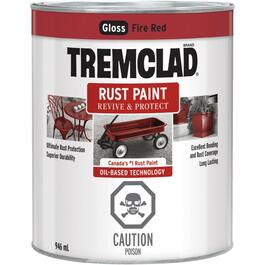 946mL Gloss Fire Red Alkyd Rust Paint thumb