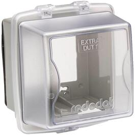 2 Gang Large While-In-Use Extra Duty Weatherproof Clear Receptacle Cover thumb