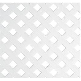 4' x 8' White Diamond Vinyl Privacy Lattice thumb