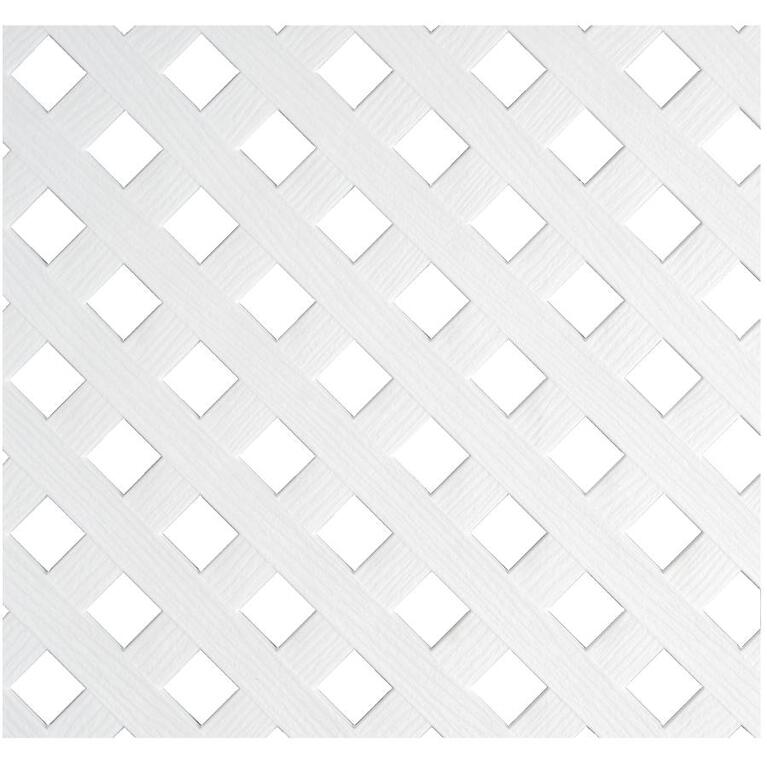 Deckorators 4'x8' White Diamond Vinyl Privacy Lattice | Home