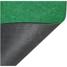 "96"" x 72"" Green Polyester Patio Rug, with Backing thumb"