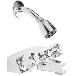 Chrome Facemount Tub and Shower Faucet thumb