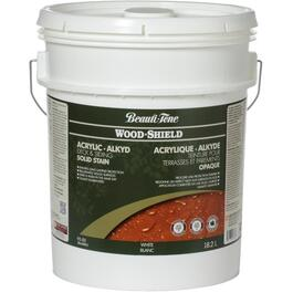 18.2L Solid White Base Alkyd Acrylic Wood Stain thumb