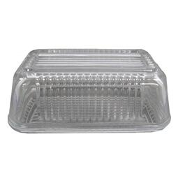 Glass Butter Dish, with Cover thumb