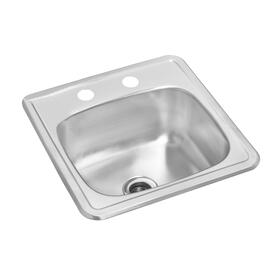 "15"" x 15"" x 6 1/8"" Stainless Steel Bar Sink thumb"