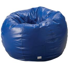 Blue Vinyl Beanbag Chair thumb