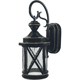 Marietta Black Outdoor Coach Light Fixture, with 150 Degree Motion Sensor thumb