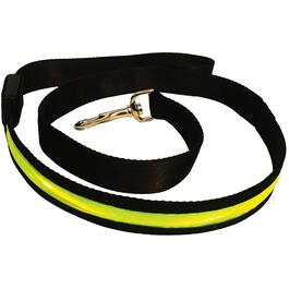 "1"" x 47"" Yellow LED Nylon Dog Leash thumb"