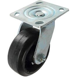 "5"" Rubber Mold On Wheel Swivel Plate Caster thumb"
