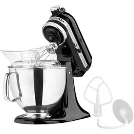 325 Watt 10 Speed Black Stand Mixer, with 5 Quart Bowl thumb