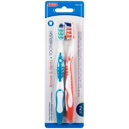 2 Pack Toothbrushes, with Tongue and Cheek Cleaner thumb