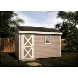 12' x 8' Side Entry Gable Shed Package, with Vinyl Siding thumb