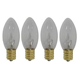 4 Pack Outdoor Incandescent Clear C9 Sparkle Bulbs thumb