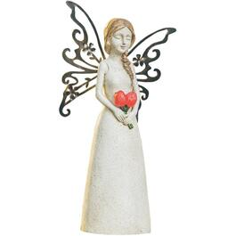 "12.5"" Memorial Angels Solar Garden Statue, Assorted Designs thumb"