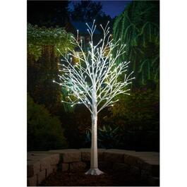 4' Indoor/Outdoor White Trunk Twig Tree, with 160 LED Twinkle Lights thumb