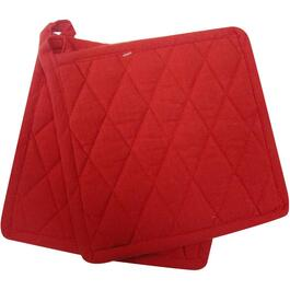 "2 Pack 8"" x 8"" Red Woven Classic Pot Holders thumb"